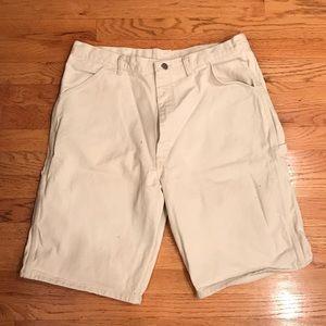 Men's Wrangler Cargo Tan Denim Shorts - Size 36